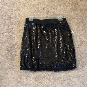 Black sequin skirt NWT size large